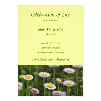 Memorial Celebration of Life - Flowers Card