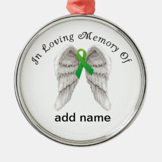 Memorial Christmas Ornament Green Ribbon