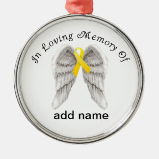 Memorial Christmas Ornament Yellow Ribbon Sarcoma