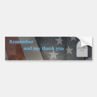 Memorial Day2 Bumper Sticker