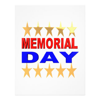 Memorial Day 21.5 Cm X 28 Cm Flyer