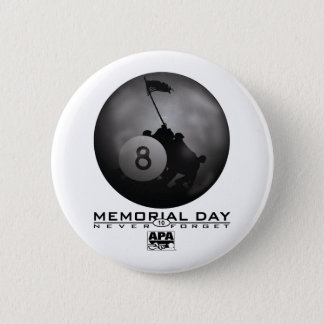 Memorial Day 6 Cm Round Badge