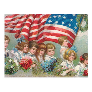 Memorial Day Children Postcard