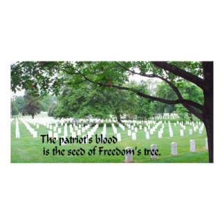 Memorial Day Customised Photo Card
