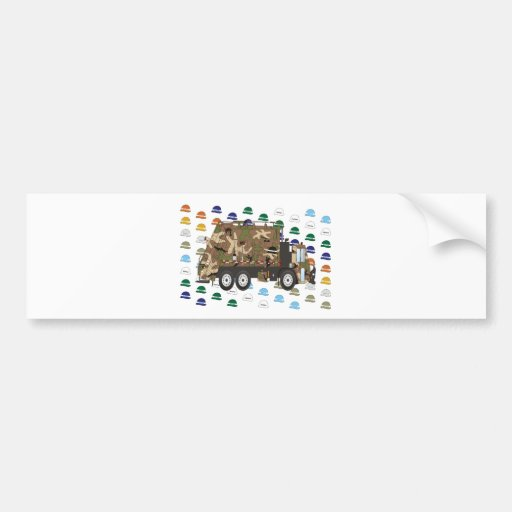 Memorial Day Garbage Truck May Bumper Sticker