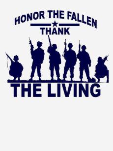 MEMORIAL DAY Honor The Fallen Thank The Living Mem T-Shirt 0cf7f23ab