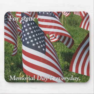 Memorial Day (italics) Mouse Pad