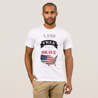 """Memorial Day """"Land of the Free """" T-Shirt"""