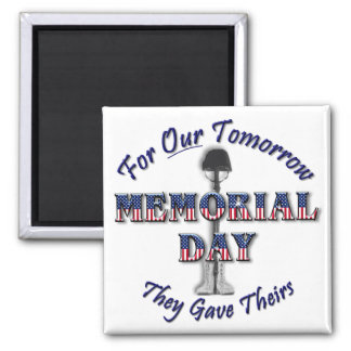 Memorial Day Square Magnet
