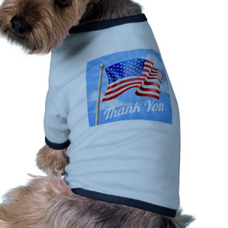 Memorial Day or Veterans Day Thank You American Ringer Dog Shirt