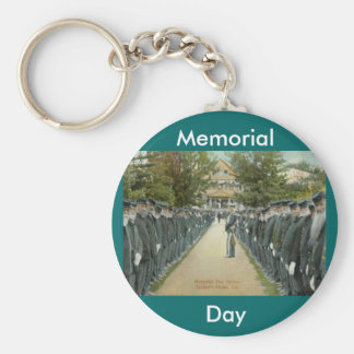 Memorial Day Review Soldiers Home Keychain