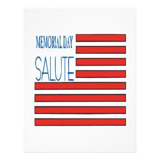 Memorial Day Salute Personalised Flyer