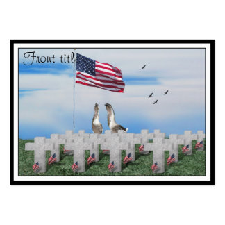 Memorial Day Saluting Geese Pack Of Chubby Business Cards