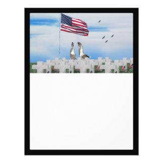 Memorial Day Saluting Geese Flyer Design