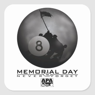 Memorial Day Square Sticker