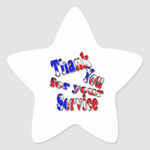 Memorial Day Star Stickers
