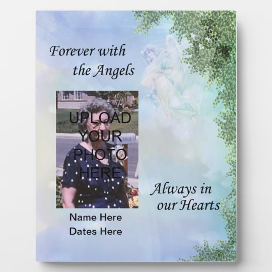 Memorial Forever with the Angels Plaque- Customise Plaque