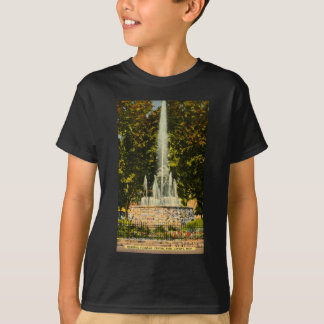 Memorial Fountain, Central Park, Lansing, Michigan T-Shirt
