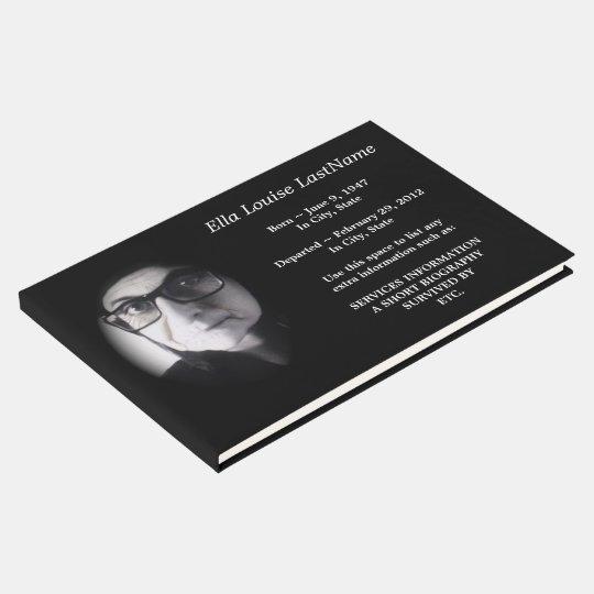 memorial funeral guest book