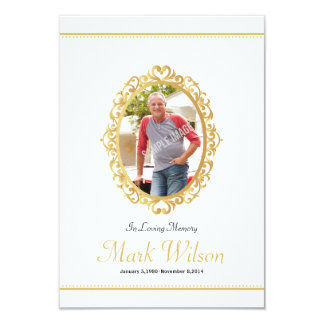 Memorial Funeral Program Card Template