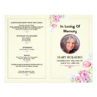 Memorial Flyer Insssrenterprisesco - Memorial brochure template