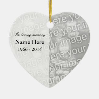 Memorial heart photo ornament | I loving memory