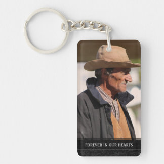 Memorial - Horses Running - They Are Where We Are Double-Sided Rectangular Acrylic Key Ring
