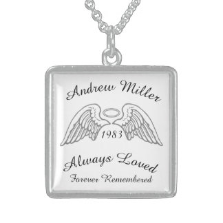 Memorial Keepsake Custom Pendant Silver and Grey