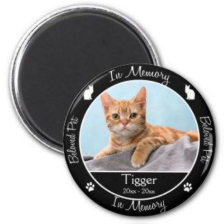 Memorial - Loss of Cat - Custom Photo/Name Magnet