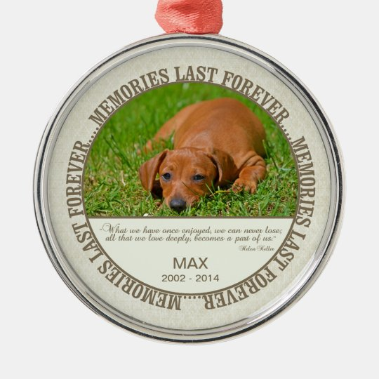 Memorial - Loss of Dog- Custom Photo/Name Christmas