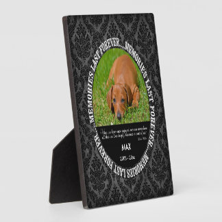 Memorial - Loss of Dog - Custom Photo/Name Plaque