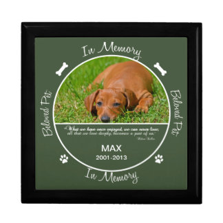Memorial - Loss of Dog Large Square Gift Box