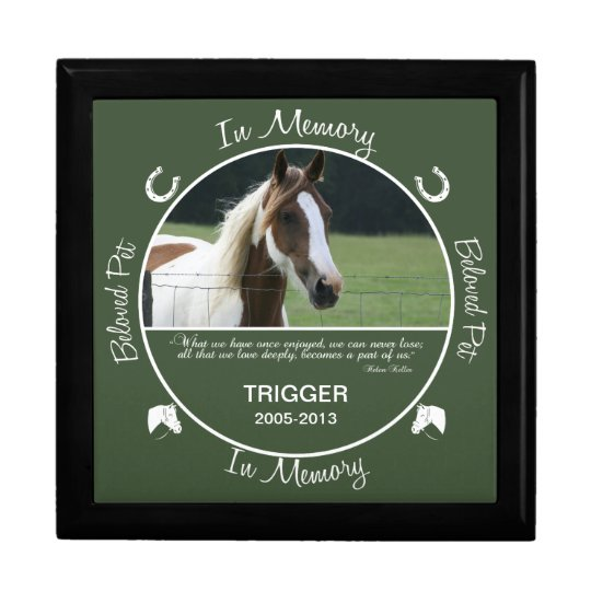 Memorial - Loss of Horse Large Square Gift