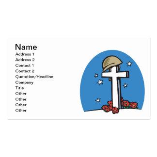 Memorial Pack Of Standard Business Cards