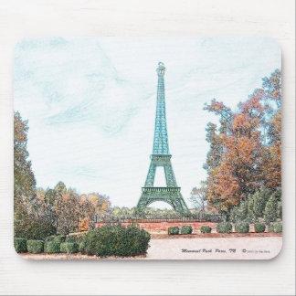 """""""Memorial Park""""  Paris, TN Mouse Pad"""