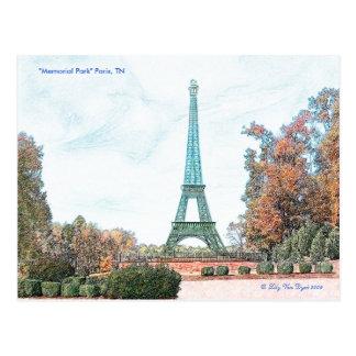 Memorial Park Paris TN Post Card