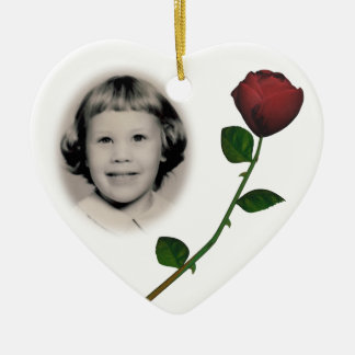 Memorial Photo Ornament Customizable