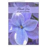 Memorial Photo Thank You Card -- Lilacs Greeting Card