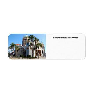 Memorial Presbyterian Church Return Address Label