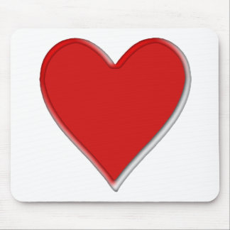 Memorial round edged heart mouse mat