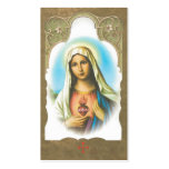 Memorial Sacred Heart of Mary Prayer Card Pack Of Standard Business Cards