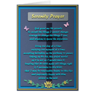 Memorial Serenity Prayer Card