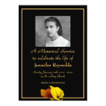 Memorial Service Announcement 13 Cm X 18 Cm Invitation Card