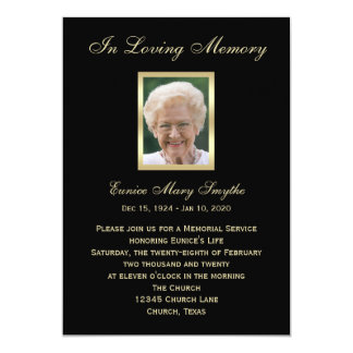 Memorial Service Announcement Invitations - Photo