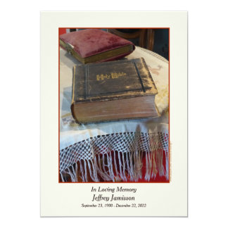 Memorial Service Announcement Vintage Bible Invite