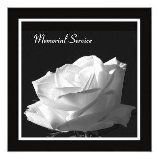 Memorial Service Beautiful Rose Invitation