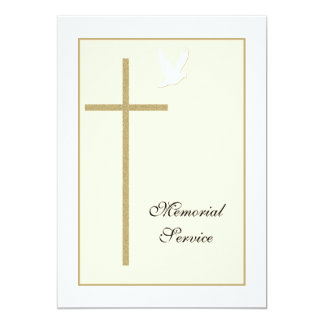 "Memorial Service Christian Invitation Announcement 5"" X 7"" Invitation Card"