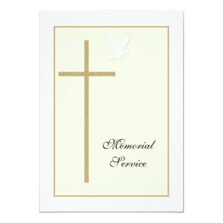 Memorial Service Christian Invitation Announcement
