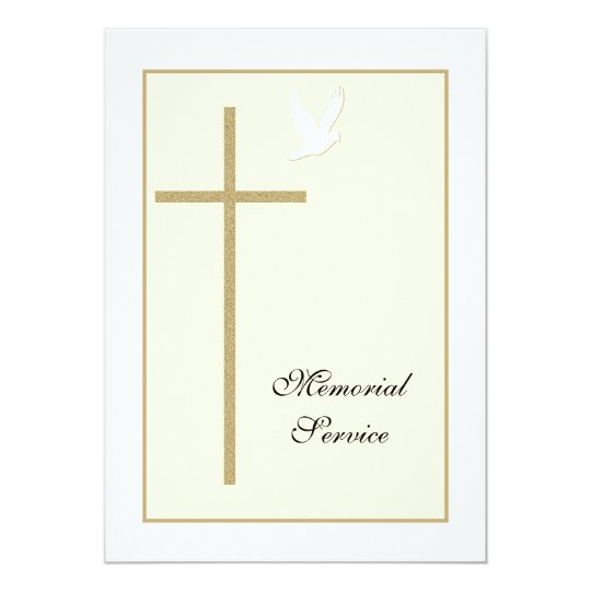 Memorial Service Christian Invitation Announcement