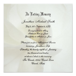 Memorial Service Invitation Template as great invitations sample